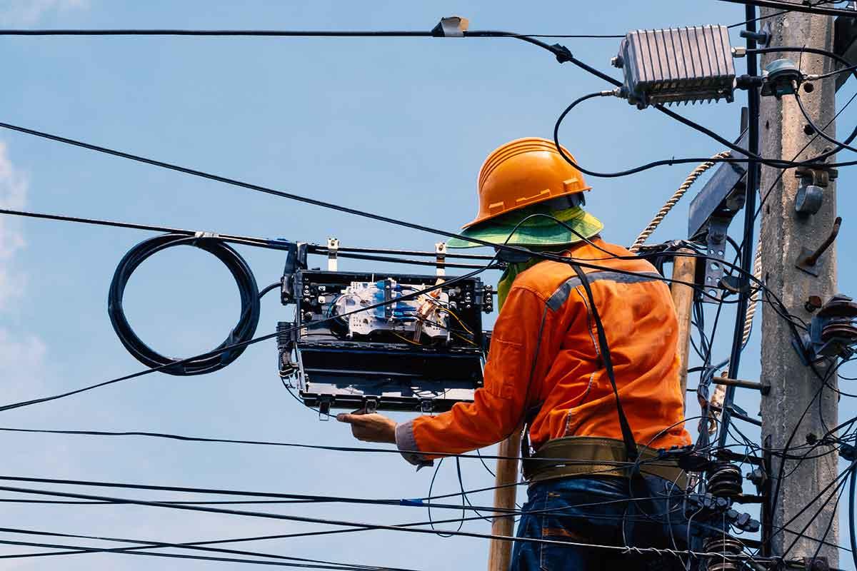 Fiber Optic Install on a line